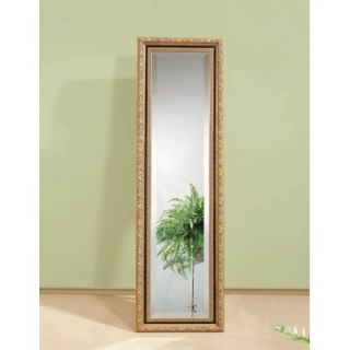 Bassett Mirror Antique Rectangular Gold Leaf Cheval Mirror   6312
