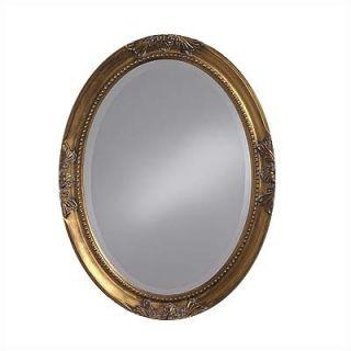 Howard Elliott Queen Ann Mirror with Gold Finish