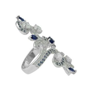 Palm Beach Jewelry Cubic Zirconia Sterling Silver Elongated Ring