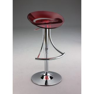 Creative Images International Swivel Barstool with Gas Lift in Red