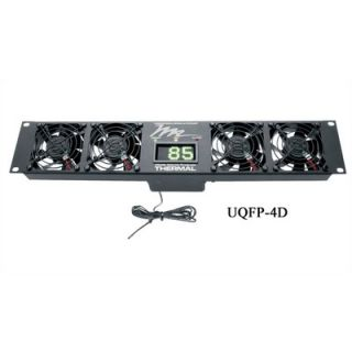 Middle Atlantic UQFP Series Ultra Quiet Fan Panel, with Local Display