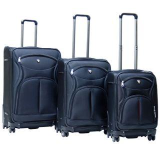 Carnival Expandable Hardsided 3 Piece Spinner Luggage Set