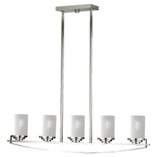 Feiss Finley Five Light Kitchen Island Light in Polished Nickel