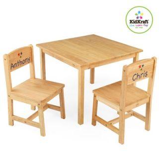Kidkraft Kids Aspen Wood Table Amp 2 Chair Set White