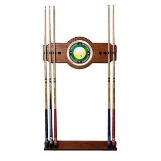 Trademark Global Nine Ball 2 Piece Wood and Mirror Wall Cue Rack