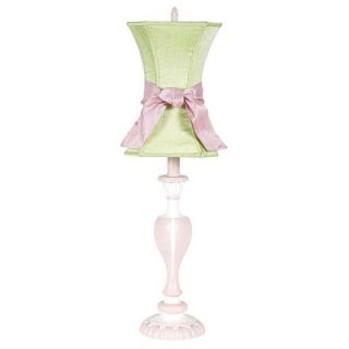 Jubilee Collection Curvy Candle Table Lamp in Pink and White