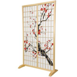 Oriental Furniture Cherry Blossom Freestanding Room Divider