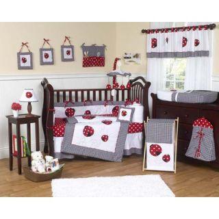 Sweet Jojo Designs Polka Dot Ladybug Crib Bedding Collection