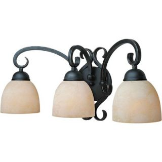 Forte Lighting Three Light Vanity Light in Bordeaux   5250 03 64