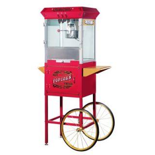 Great Northern Popcorn Pasedena Eight Ounce Antique Popcorn Machine