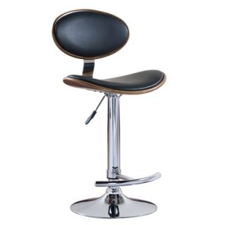 Leick Favorite Finds Oval Adjustable Swivel Stool in Black