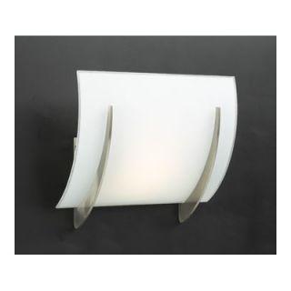 PLC Lighting Lisette Wall Sconce in Satin Nickel   6559 Matte Opal