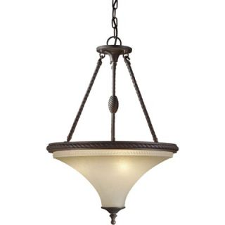 Forte Lighting 3 Light Bowl Inverted Pendant   2521 03 32