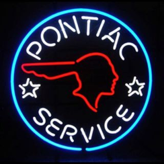 Neonetics Cars and Motorcycles Pontiac Service Neon Sign