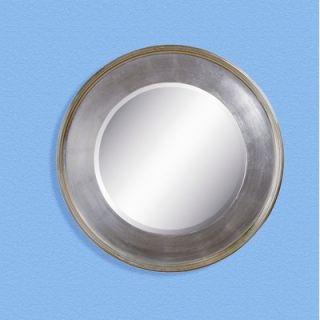 Bassett Mirror Round Mirror in Antique Silver and Gold Leaf