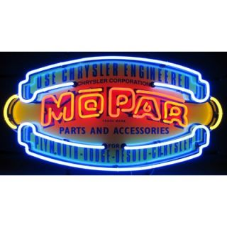 Neonetics Mopar Vintage Shield Neon Sign