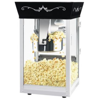 Great Northern Popcorn Matinee Movie Antique Popcorn Machine in Black