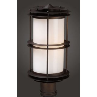 Elk Lighting Burbank Outdoor Post Lantern in Clay Bronze   Series