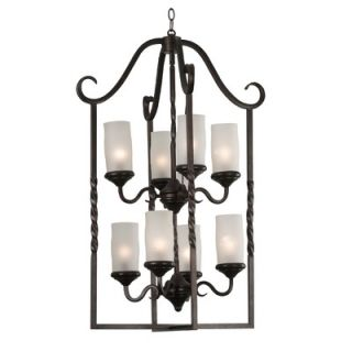Kenroy Home Leafston 8 Light Chandelier   80248ORB