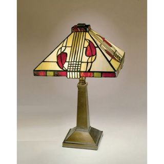Dale Tiffany Miniature Henderson Table Lamp in Antique Bronze