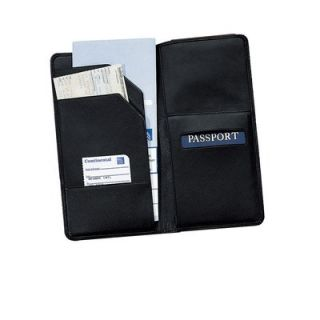 Royce Leather Oversized Airline Ticket and Passport Holder   212 5