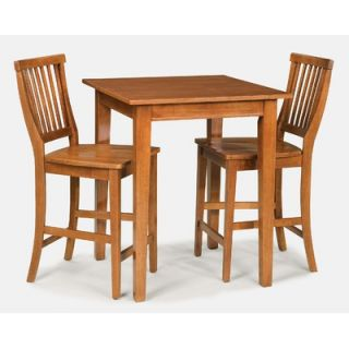 Home Styles Arts and Crafts 3 Piece Counter Height Pub Table Set in