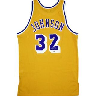 Steiner Sports Magic Johnson Home Yellow Lakers Replica Jersey