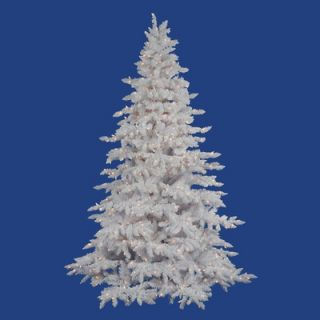 Vickerman Flocked White Spruce 4.5 Artificial Christmas Tree with LED