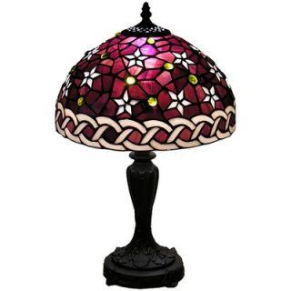 Warehouse of Tiffany Petite Purple Star Table Lamp   MB25+PS232