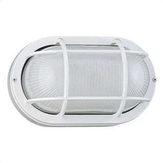 Sea Gull Lighting 10.5 Oval Commercial Outdoor Sconce in White
