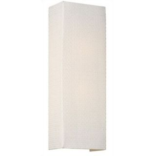 Philips Forecast Lighting Manhattan Wall Sconce in White Grasscloth