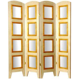 Oriental Furniture Decorative Photo Display Room Divider in Natural