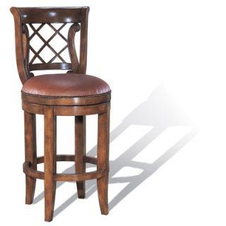 Legion Furniture Swivel Counter Stool in Medium Brown   W1746S 24