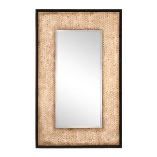 Cooper Classics Tonal Wall Mirror in Distressed Rattan