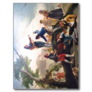 La cometa (1778). Pintor Goya. Autor de imagen Al Postcards