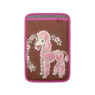 Cute Girly Pink Poodle Dog Sleeve For MacBook Air