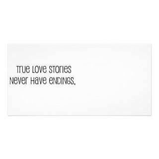 Cute, True love stories marriage quote Picture Card