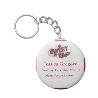 Sweet 16 Party Favors Keychain