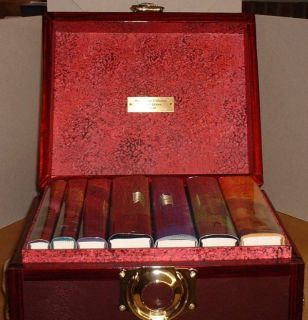 ROWLING HARRY POTTER HARDCOVER SET BOOKS 1 7 SIGNED 1 1 LEATHER