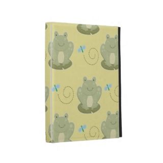 Cute Pond Frog Custom iPad Folio Case (Yellow)