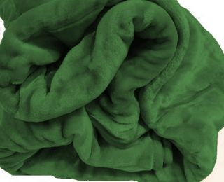 Super Soft Mink Hunter Green Blanket Queen Full New