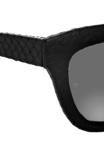 Linda Farrow Cat eye frame python coated sunglasses