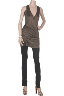 Donna Karan Liquid satin plunge top
