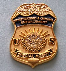 Dept Homeland Security Ice Special Agent Lapel Pin