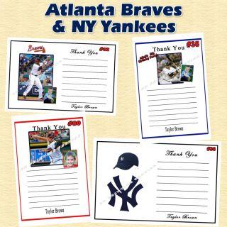 NY Yankees Birthday Invitation Thank You Sticker Candy Wrap CD