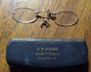 Vintage Eyeglasses Spectacles R N Allison Grove City PA