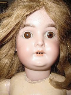 Karl Hartman Marked 3 25 Antique Doll with Brown Sleep Eyes and Ginger