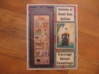 Autumn at Hawk Run Hollow Cross Stitch Pattern by Carriage House