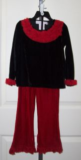 Black Red Velvet Greggy Girl Holiday Outfit