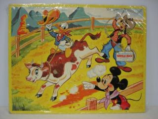 WALT DISNEY CHILDS PUZZLE JAYMAR INLAID DONALD DUCK GOOFY MICKEY MOUSE